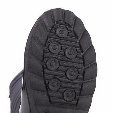 Botas de mujer invierno gamuza confort confort informal plana negra azul Blue
