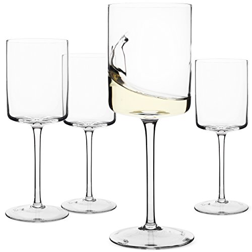 Wine Glasses, Large Red Wine or White Wine Glass Set of 4 – Unique Gift for Women, Men, Wedding, Anniversary, Christmas, Birthday - 14oz, 100% Lead Free Crystal Rim Red Wine
