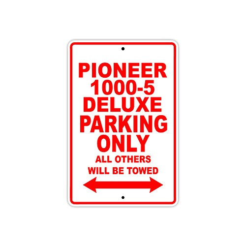 Afterprints Pioneer 1000-5 Deluxe Parking Only All Others Will Be Towed Motorcycle Bike Novelty Garage Aluminum 8