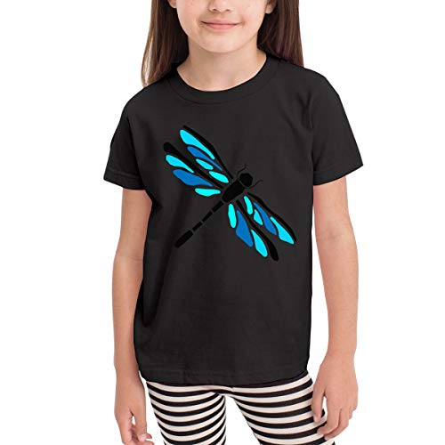 SHIRT1-KIDS Dragonfly Funny Costume Toddler/Infant Crew Neck Short Sleeve Shirt Tee for 2-6 Toddlers Black -