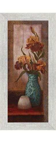 (Poster Palooza Framed Spiced Jewels II - Mini- 8x20 Inches - Art Print (White Barnwood Frame))