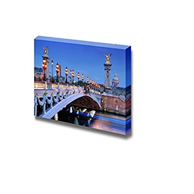 Beautiful Scenery Landscape The Alexander Iii Bridge Across River Seine in Paris France - Canvas Art Wall Art - 12