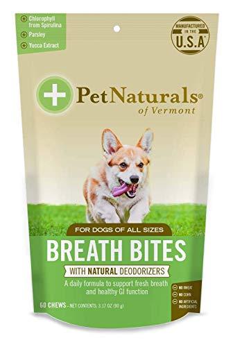 - Pet Naturals of Vermont - Breath Bites, Fresh Breath Dental Health Bites, 60 Bite-Sized Chews (2 Pack)