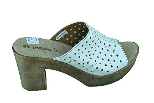 INBLU SC-06 scalzati ciabatte zoccolo alta bianco