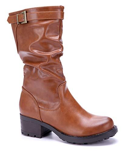 947cb01f69a9 Cm Stiefeletten Boots Stiefel Blockabsatz Camel 5 Klassische Schuhe  Schnalle Schuhtempel24 Damen ZcSWORz1 ...