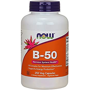 NOW Vitamin B-50 mg,250 Veg Capsules