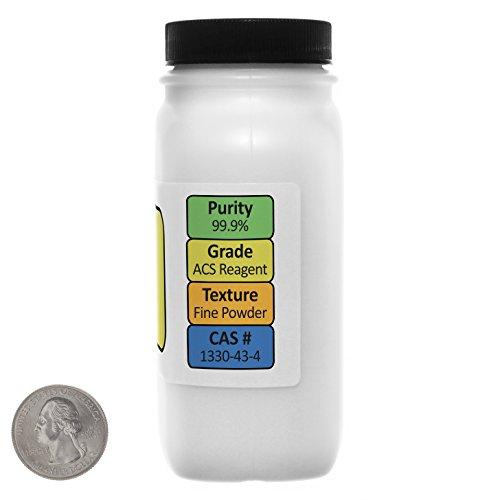 [해외]무수 소듐 보레이트 [Na2B4O7] 99.9 % ACS 등급 분말 8 온스, 2 개의 공간 절약형 병 USA/Sodium Borate Anhydrous [Na2B4O7] 99.9% ACS Grade Powder 8