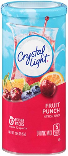 Crystal Light Drink Mix, Fruit Punch, Pitcher Packets, 6 Count ( Packaging May vary ) (Light Fruit Crystal Punch On Go The)