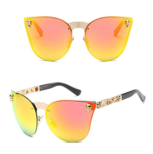 2018 Gafas Moda de de Sol Cuadrado Hombres Mujer E Verano Mujer Gafas WINWINTOM Gafas por Vendimia Sol Verano Regalo Playa de Espejado Color pC0wqdgx5