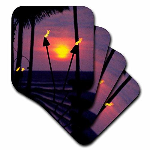3dRose cst_89717_2 Tiki Torches Hawaii-Us12 Dpb1422-Douglas Peebles-Soft Coasters, Set of 8 by 3dRose