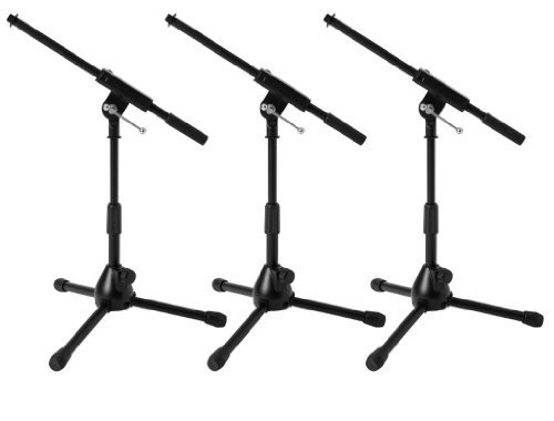 Ultimate Support JS-MCFB50 Low-Profile Mic Stand with Fixed-length Boom W/ Adjustable Height of 16
