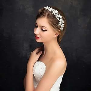 Rhinestone de la flor de la mujer/niña/aleación/perla de imitación headpiece-wedding/ocasión especial Diademas 1pieza