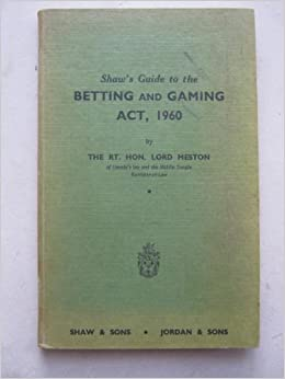 Betting and gambling act 1960 bitcoins for sale ebay account