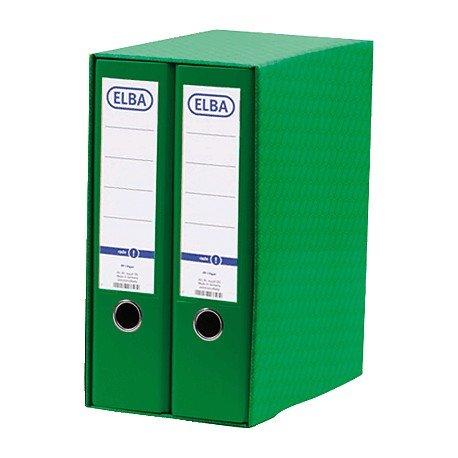 Archivador módulo verde A4 Elba (2 unidades): Amazon.es ...