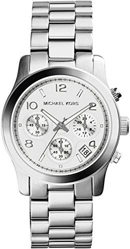 Michael Kors Women's Runway Silver-Tone Watch MK5076 (Silver Designer Watch)