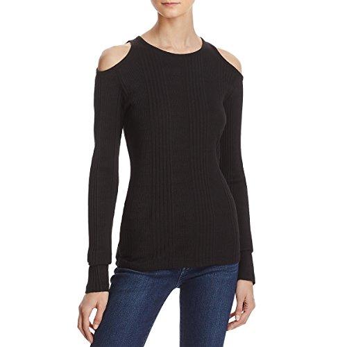 - FRAME Women's Variegated Rib Pullover, Noir, Small