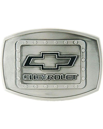 Western Express Men's Silver Chevy Riveted Buckle Silver One Size (Riveted Buckle)