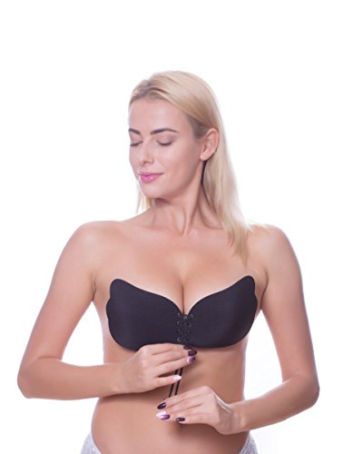 f24b83e3a45 Squeeze Bras 2018 Upgraded Version Strapless Backless Sticky Invisible  Reusable Adhesive Push-up Bra