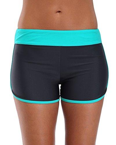 Attraco Women's Swim Bottom Board Shorts Bikini Bottom Boyleg Tankini Bottom