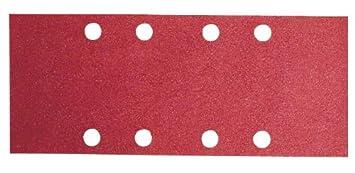 Bosch 2609256A97 Feuilles abrasives pour Ponceuses vibrantes 93 x 230 Nombre de trous 8 Grain 120 Lot de 10 feuilles