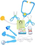 Image of CoolToys Pretend Doctor Playset Toy for Kids - 10 Pieces (Blue)