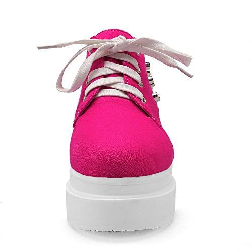 Las Niñas Balamasa AuHombrestan El Interior Con Cordones De Las Bombas De Alta Cara-zapatos Durazno