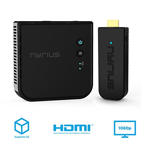 Wireless Hdmi Tv - Nyrius Aries Pro Wireless HDMI Transmitter Receiver to Stream HD 1080p 3D Video from Laptop, PC, Cable, Netflix, YouTube, PS4, Xbox 1, Drones, Pro Camera, to HDTV/Projector/Monitor (NPCS600)