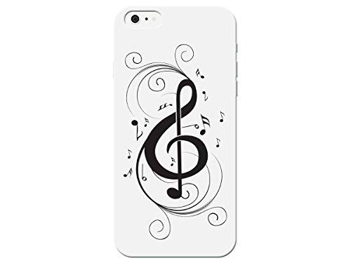 Amazon Com Black White Music Note Treble Clef Phone Plastic Back
