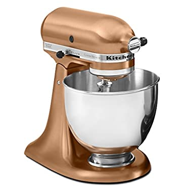KitchenAid RRK150CP  5 Qt. Artisan Series Stand Mixer - Satin Copper (Certified Refurbished)