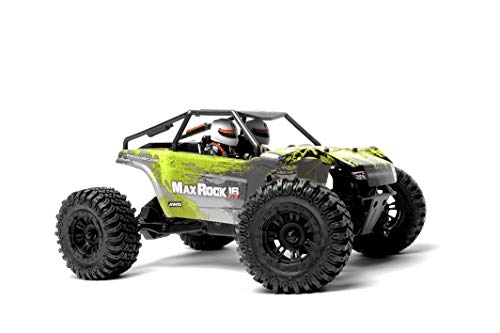(Exceed RC Scale Rock Racer Radio Car 1/16th Scale 2.4Ghz Max Rock 4WD Powerful Electric Remote Control 100% RTR Ready to Run with Waterproof Electronics (Green))