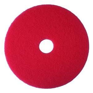 "3M Red Buffer Pad 5100, 16"" Floor Buffer, Machine Use (Case of 5)"