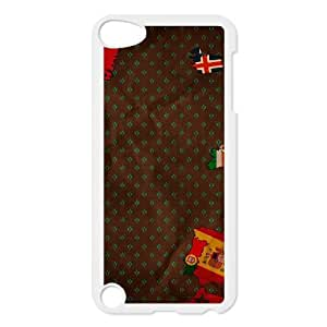 iPod Touch 5 Case White Bits of Flags Hlimd