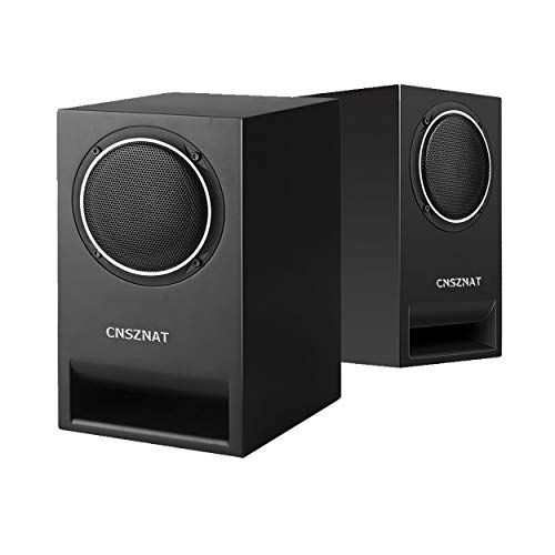 CNSZNAT P400 Passive Bookshelf Speakers, Near Field Monitors - Studio Monitor Speaker - Perfect for 5.1 or 7.1 Side/Rear Surround Setup- 4