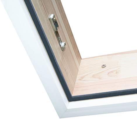 Schneeweiße Abdeckleisten für Bodentreppe HEYKE | Perfekter Deckenabschluss | Einfache Montage | Premium Verkleidungsleiste aus Kunststoff | Premium Qualität (120 X 60 cm)