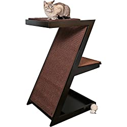 The Refined Feline ZENCAT-ES Zen Cat Scratcher Post, Espresso