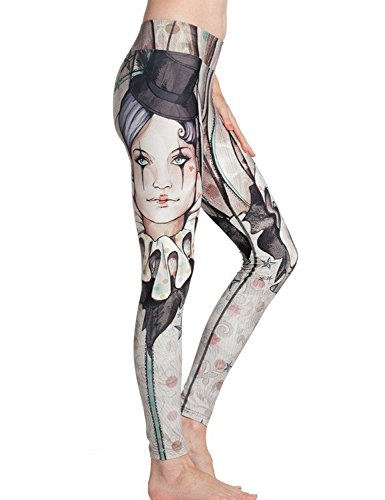 Ninimour Leggings de Impresión Cartón Printed High Spandex Elastic Pants Clown