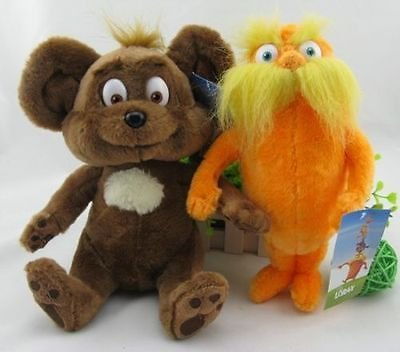 [set of 2 Dr. Seuss The Lorax Plush Toy Baby Gift New] (Book Week Costumes For Sale)