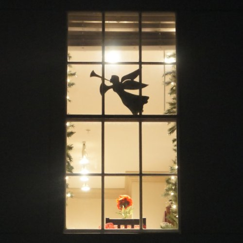 Teak Isle Christmas Window Decoration, Flying Angel -