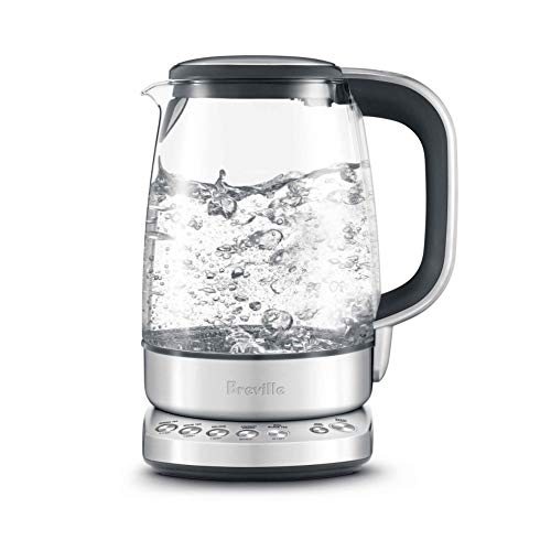 Breville the IQ Kettle Pure Electric Glass Coffee/Tea Kettle w/ 5 Temperature Settings & Soft Open Lid - BKE830XL