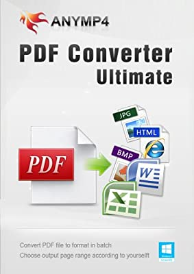 AnyMP4 PDF Converter Ultimate Lifetime License - Convert PDF to any popular document (Text/Word/Excel/PowerPoint/EPUB/HTML, etc.) and image (JPEG, PNG, GIF, TIFF and more) format on Windows 10/8/7/Vista/XP computer [Download]