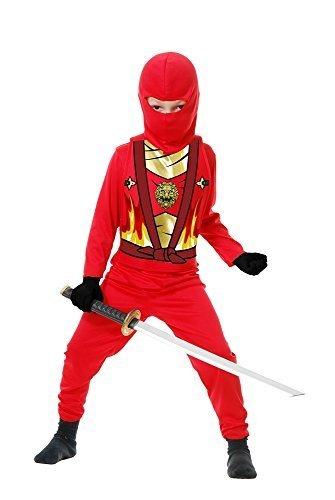Charades Kid's Child's Ninja Avenger Series 4 Costume Childrens Costume, red, Medium