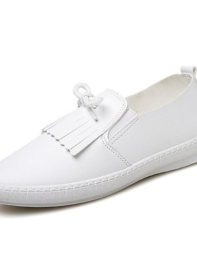 Plano uk6 cn40 us8 uk4 black Blanco 5 Zapatos Tacón 7 de us8 5 eu37 mujer Oxfords ZQ Negro white eu39 5 Semicuero cn40 eu39 Casual us6 white uk6 cn37 5 5 Comfort 5 5 TvIcaWanZ