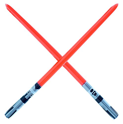 2 Premium - Red Single Blade Inflatable Light Saber Swords, Lightsaber, Party, Gift, Action Play, Blow up Darth Vader (Red 1-Blade)]()