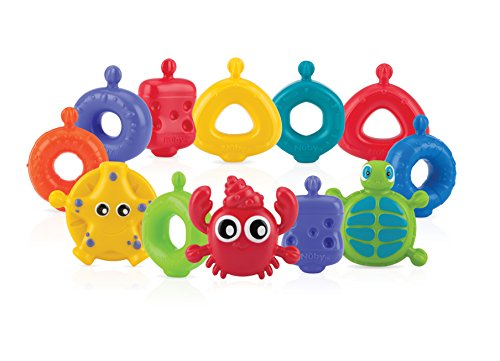 Nuby 15-Piece Fun Bath Links Toy