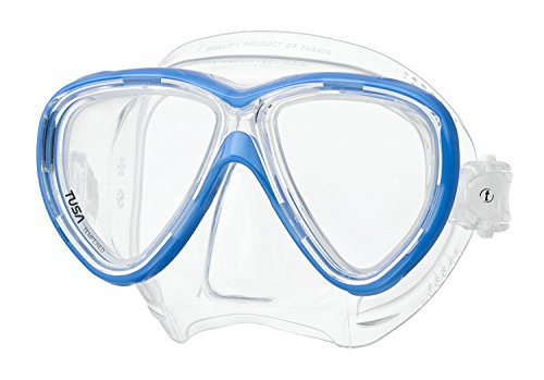ne Scuba Diving and Snorkeling Mask - Fishtail Blue (Tusa Snorkeling)