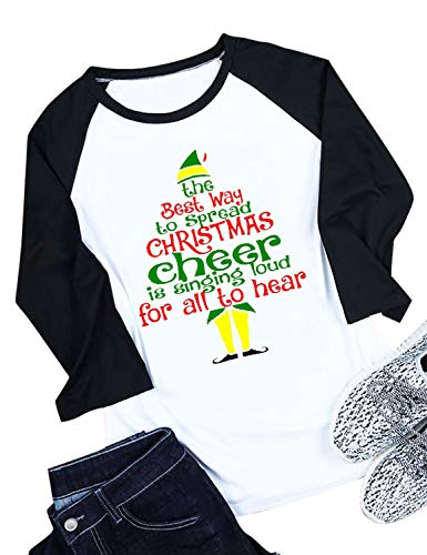 Nlife Women The Best Way to Spread Christmas Cheer is Singing Loud for All to Hear T-Shirt