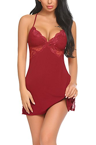 Avidlove Women Chemise Lingerie Sexy Nightie Lace Babydoll, used for sale  Delivered anywhere in Canada