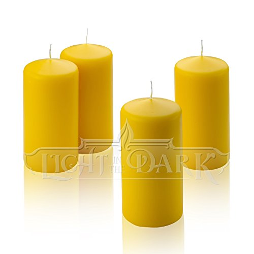 1 Yellow Citronella Pillar Candle Inch Tall 3 Inch Wide
