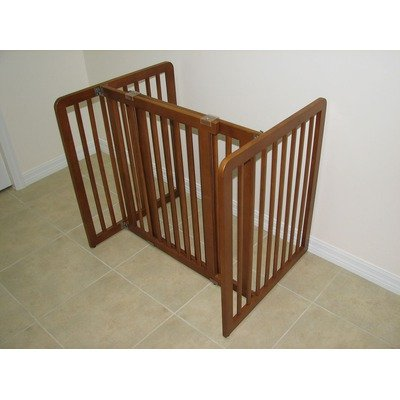 30 in. All-Wood Pet Gate in Chestnut Brown Finish, My Pet Supplies