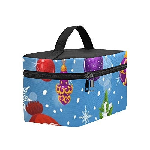 Christmas Gift Santa Sleigh Greeting Card Lunch Box Tote Bag Lunch Holder Insulated Lunch Cooler Bag For -